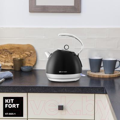 Электрочайник Kitfort KT-665-1 (черный)