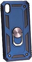 Чехол-накладка Case Defender для Y5 2019 (синий, матовый) -