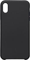 Чехол-накладка Case Liquid для iPhone XS Max (черный, матовый) -