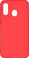 Чехол-накладка Case Matte для Galaxy A40 (красный, матовый) -