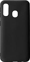 Чехол-накладка Case Matte для Galaxy A40 (черный, матовый) -