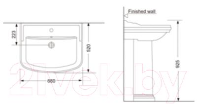 Умывальник Porta Retro HDLP369 + P369