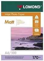 Фотобумага Lomond A4, 170 г/м, 100 л. / 0102006 (матовая) -