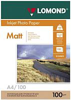 Фотобумага Lomond A4, 100 г/м, 100 л. / 0102002 (матовая) -