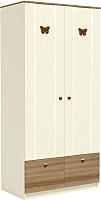 Шкаф Заречье Юниор Ю5 (Weave светлый/ясень шимо тёмный) -