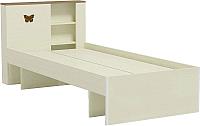 Односпальная кровать Заречье Юниор Ю12 90x200 (Weave светлый/ясень шимо тёмный) -