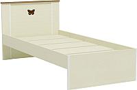 Односпальная кровать Заречье Юниор Ю12а 90x200 (Weave светлый/ясень шимо тёмный) -