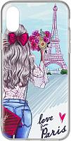 Чехол-накладка Case Print для iPhone X / XS (Париж) -