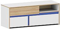 Тумба Заречье Радуга Р1 (дуб ривьера/белый/синий) -