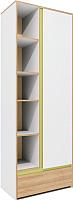 Шкаф Заречье Радуга Р3 (дуб ривьера/белый/зеленый) -