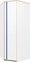 Шкаф Заречье Радуга Р4 (дуб ривьера/белый/синий) -