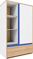 Шкаф Заречье Радуга Р6 (дуб ривьера/белый/синий) -