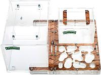 Муравьиная ферма AntHouse Bio X стартовый комплект (Wood) -