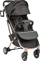 Детская прогулочная коляска Sundays Baby S600 Plus (бронзовя база, черный/светло-серый) -