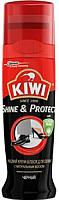 Крем для обуви Kiwi Shine & Protect Жидкий крем-блеск (75мл, черный) -