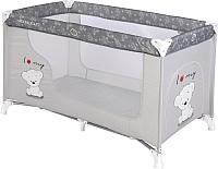 Кровать-манеж Lorelli Moonlight 1 / 10080391833 (grey/my teddy) -