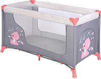 Кровать-манеж Lorelli Moonlight 1 / 10080391878 (pink grey/my teddy) -