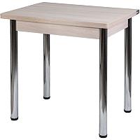 Обеденный стол FORT Ломберный 60-120x80x75 (шимо светлый/хром) -
