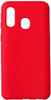 Чехол-накладка Volare Rosso Rosso Suede для Galaxy A40 (2019) (красный) -