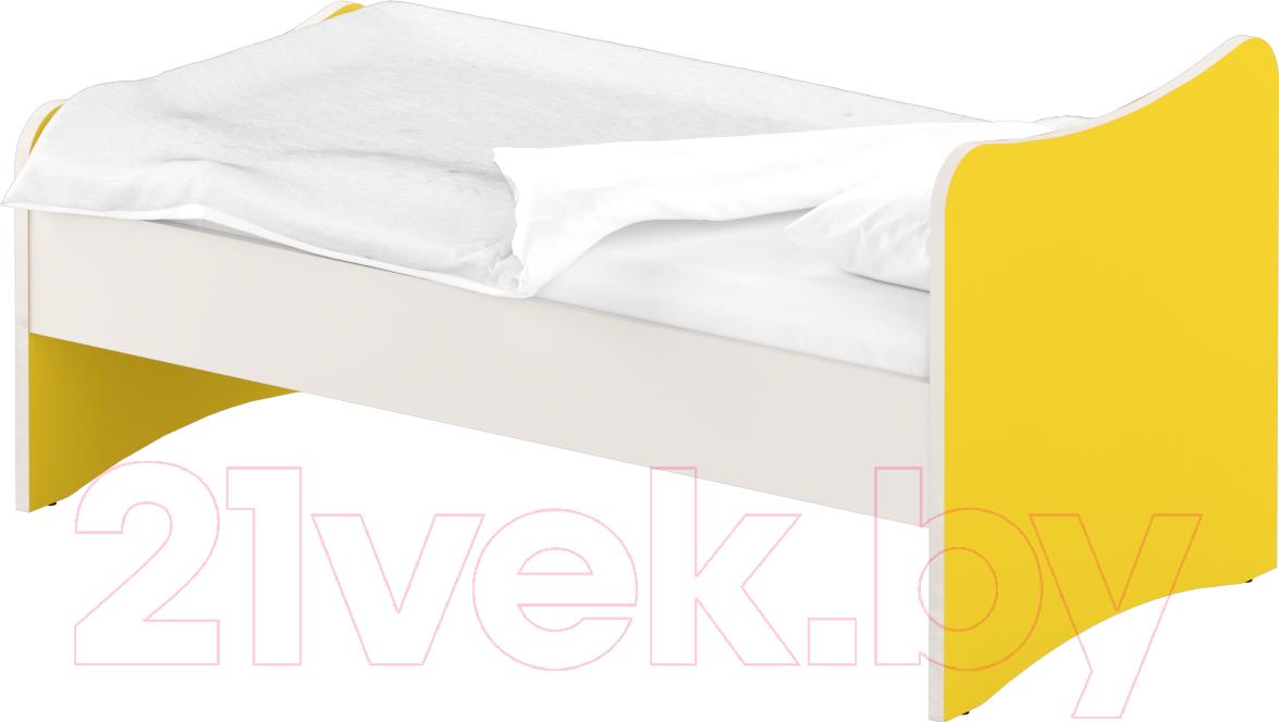 Купить Односпальная кровать Славянская столица, ДУ-КО12-13 (белый/желтый), Беларусь