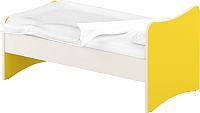 Односпальная кровать Славянская столица ДУ-КО12-13 (белый/желтый) -