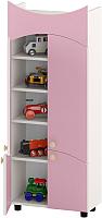 Шкаф игровой Славянская столица ДУ-СМ21 (белый/розовый) -