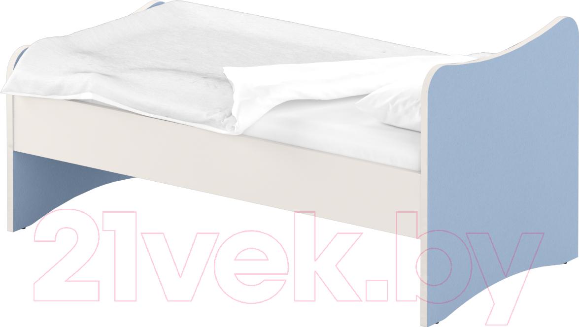 Купить Односпальная кровать Славянская столица, ДУ-КО12-13 (белый/синий), Беларусь
