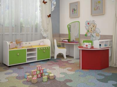 Стол для детского сада Славянская столица ДУ-СИ11 (белый/желтый)