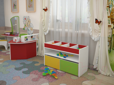 Стол для детского сада Славянская столица ДУ-СИ11 (белый/розовый)
