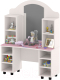 Стол для детского сада Славянская столица ДУ-СИ11 (белый/розовый) -