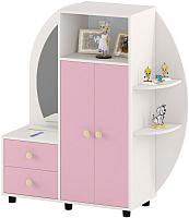 Шкаф игровой Славянская столица ДУ-СИ12 (белый/розовый) -