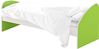 Односпальная кровать Славянская столица ДУ-КО12-4 (белый/зеленый) -