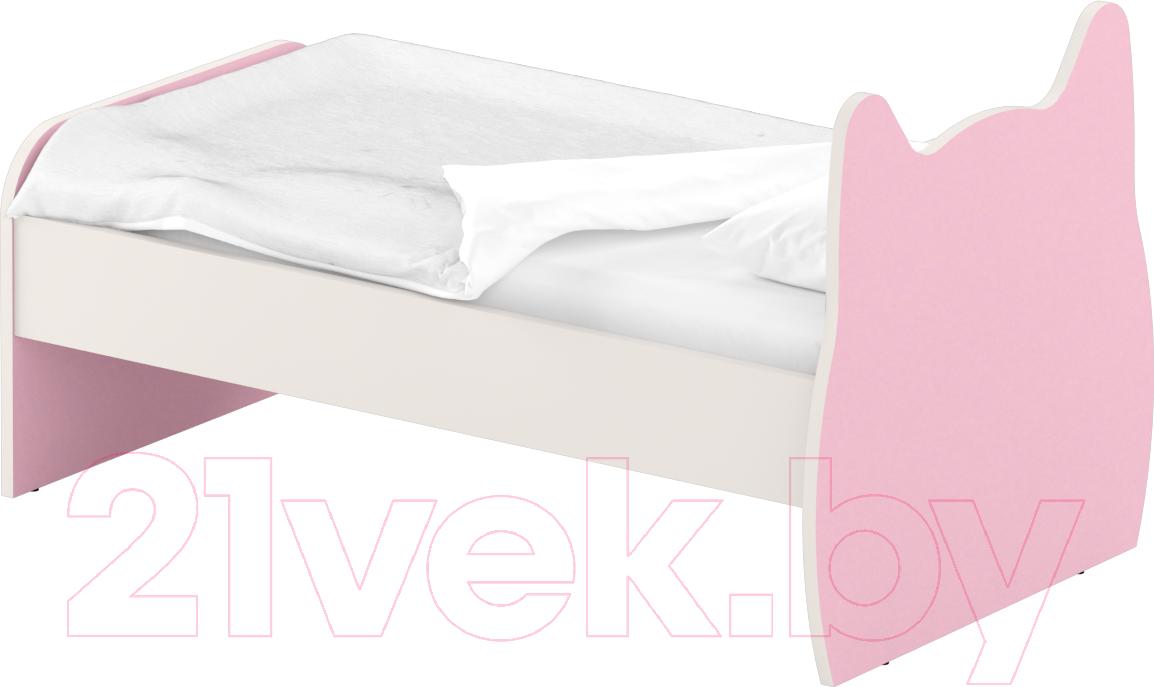 Купить Односпальная кровать Славянская столица, ДУ-КО12-9 (белый/розовый), Беларусь