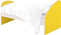 Односпальная кровать Славянская столица ДУ-КО12-4 (белый/желтый) -
