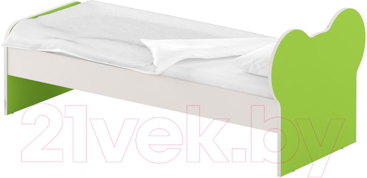 Купить Односпальная кровать Славянская столица, ДУ-КО12-10 (белый/зеленый), Беларусь