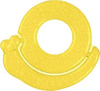 Прорезыватель для зубов BabyOno Улитка / 1014 (желтый) -