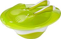 Набор детской посуды BabyOno 1064 (зеленый) -
