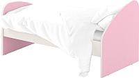 Односпальная кровать Славянская столица ДУ-КО12-4 (белый/розовый) -