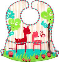 Нагрудник детский BabyOno 836 с расстёгиваемым карманом (розовый) -