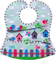 Нагрудник детский BabyOno 836 с расстёгиваемым карманом (серый) -