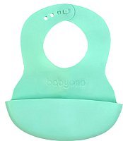 Нагрудник детский BabyOno 835 с регулируемой застёжкой (бирюзовый) -