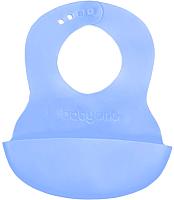 Нагрудник детский BabyOno 835 с регулируемой застёжкой (голубой) -