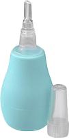 Аспиратор детский BabyOno Для носа с пластиковым наконечником 043 (бирюза) -