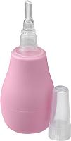Аспиратор детский BabyOno Для носа с пластиковым наконечником 043 (розовый) -