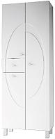 Шкаф-пенал для ванной Ванланд Монако 3 (белый) -