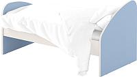 Односпальная кровать Славянская столица ДУ-КО12-4 (белый/синий) -