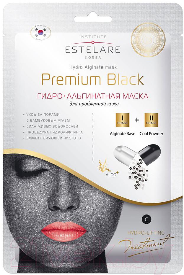 Купить Маска для лица сухая Estelare, Гидро-Альгинатная Premium Black для проблемной кожи (55г), Южная корея