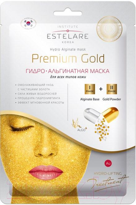 Купить Маска для лица гелевая Estelare, Гидро-Альгинатная Premium Gold для проблемной кожи (55г), Южная корея