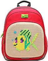 Школьный рюкзак 4ALL Kids / RK61-04N (красный/бежевый) -