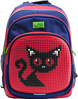 Школьный рюкзак 4ALL Kids / RK61-05N (синий/красный) -